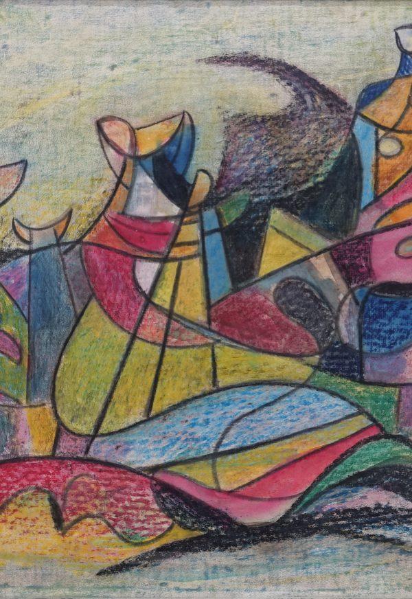 klaas boonstra gouache/pastel 1946