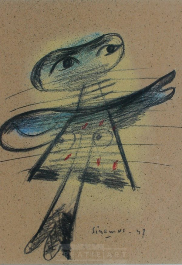Wim sinemus pastel papier