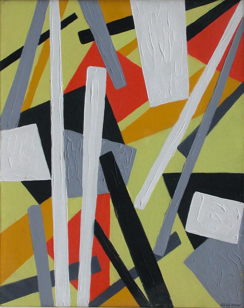 Roger Selchow painting oil 1953 Paris